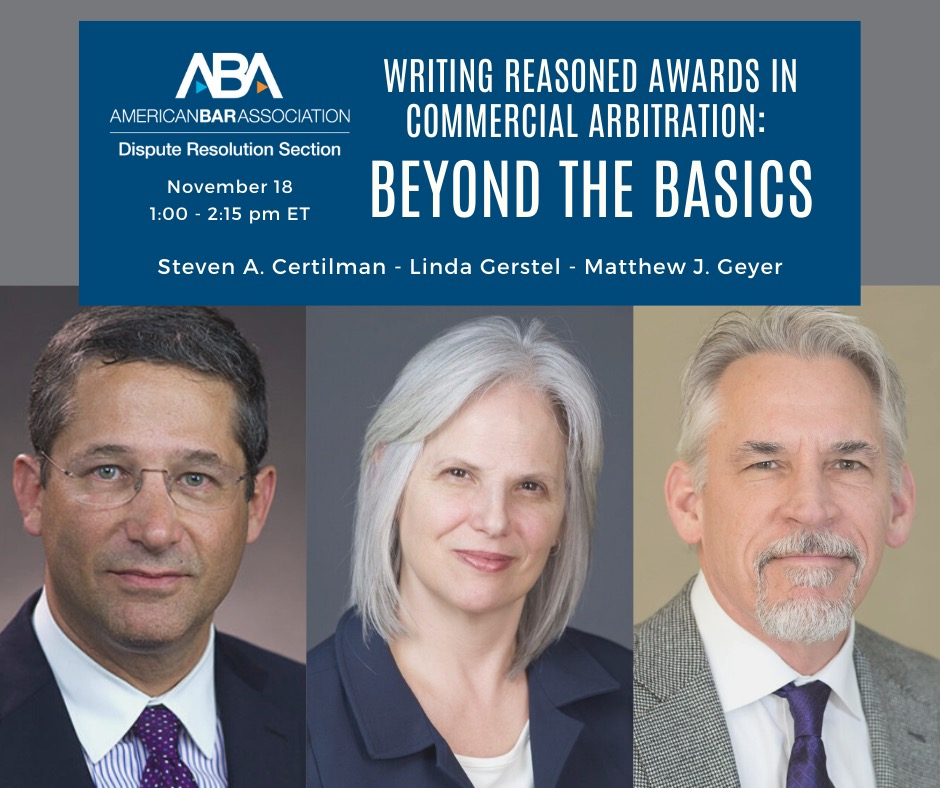Writing Reasoned Awards In Commercial Arbitration: Beyond The Basics